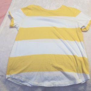 Yellow and white Old navy XS women's t-shirt